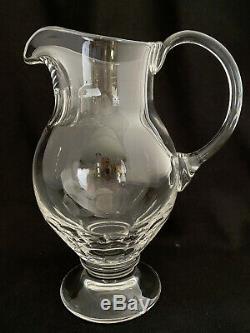 10-1/4 William Yeoward Davina Crystal Glass Water Pitcher Jug Footed