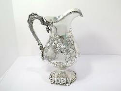 10.75 in Sterling Silver Tiffany & Co. Antique Grapevine Water Pitcher