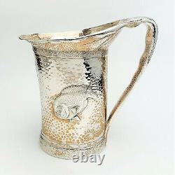 1880 Tiffany & Co. Sterling Silver Aesthetic Movement Water Pitcher with Fish