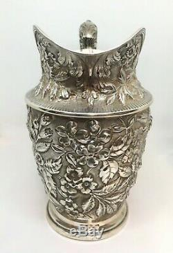 1905 Schofield Co. Baltimore Rose Pattern Sterling Water Pitcher