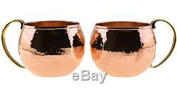 1mm Thickest Solid Copper Water Moscow Mule Pitcher Jug Cup Mug Tray Serving Set