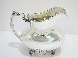 7.5 in Sterling Silver Spaulding & Co. Chicago Antique Footed Water Pitcher