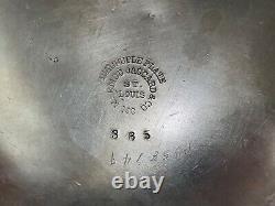 Ant Mermod Jaccard St. Louis Quadruple Silver plate Water Pitcher with Floral Dec