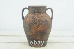Antique 18th Century Red Ware French European Jug Pitcher Oil Water