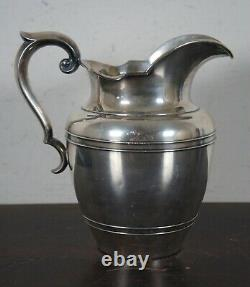 Antique 1940s Gorham Sterling Silver 5 Pint Water Pitcher A11710.925 80oz 8.5