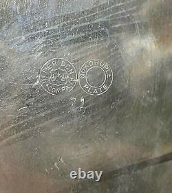 Antique American Silver Plate Tilt Lemonade Water Pitcher Two Goblets C1871