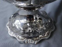 Antique Coin Silver Water Pitcher C1858 Jackson & Many New York 27 Oz 13 1/4