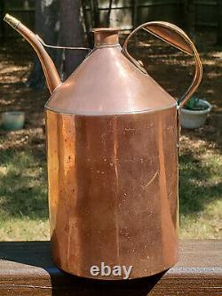 Antique Copper Jug, Oil Can, Milk Can, Watering Can Very Good Antique Condition
