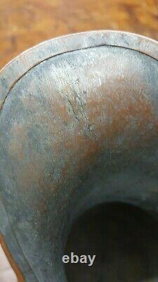 Antique Copper Jug pitcher Dovetailed Seam Circa 1850 european wine water patina