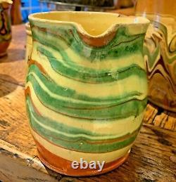 Antique French Pottery Pot Confit Stoneware Jar Water Cruche Pitcher Jug Vessel