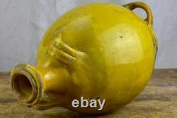 Antique French Provincial Conscience jug with yellow and green glaze water / o