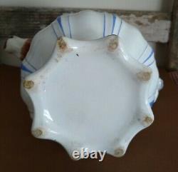 Antique Horse Head Spout Water Pitcher Jug English Pottery 1840 Victorian Teapot