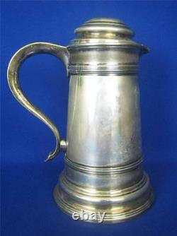 Antique MERIDEN S. P. Co. Silverplate 42 oz Ice Water Pitcher withLid