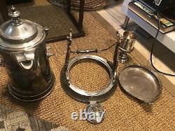 Antique REED & BARTON Silverplate Tilting Water Pitcher Vintage Unrestored