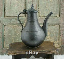 Antique RUSSIAN CAN Water Pitcher Jug 18th century Sovjet Cast-iron