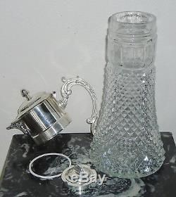 Antique Silver Eales 1779 Silver Plate Italy 14in Wine Claret / Water Pitcher