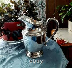 Antique Sterling Silver Frank M. Whiting Talisman Rose Water Pitcher 648 grams