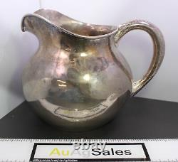 Antique The Kalo Shop Hand Wrought & Hammered Sterling Silver Water Pitcher 12