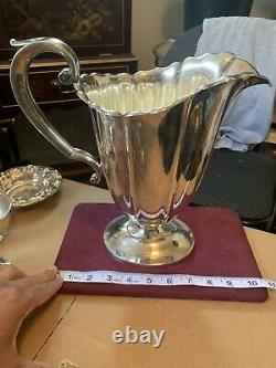 Antique Watson sterling silver water pitcher 10