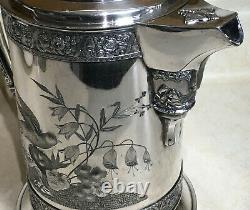 Antique Wilcox Silverplate Ice Water Pitcher