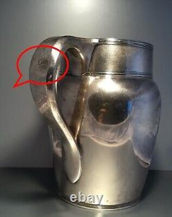 Antique c1930 Sterling Silver Tiffany & Co Water Pitcher Jug 4.25 Pint 1003.4G