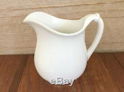 Antique ca1907-1912 HOMER LAUGHLIN White Ironstone Water Pitcher Jug 9