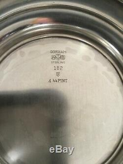 Antique gorham sterling 182 4 1/4 pt vintage water pitcher