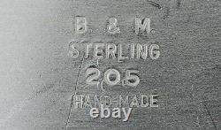 Baldwin & Miller Midcentury Modern Hand Made Sterling Silver Water Pitcher 8