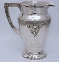 Baltimore Silversmiths Sterling Silver Hammered Water Pitcher Tudor Pattern