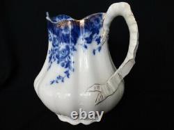 Burgess & Leigh VERMONT Flow Blue 96 oz 10 Cup Water Pitcher 1894 FUC (JP)