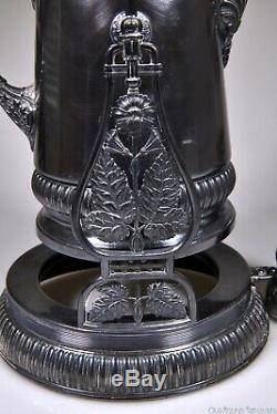 C. 1889 No. 0403 TILTING PITCHER WATER SET by Meridian Silver Plate Co