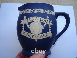 C1910 Ross's Belfast Ginger Ale Jasperware Advertising Water Jug