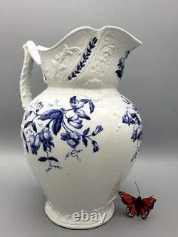 Clementson Brothers Water Pitcher Jug 1891 1916 Sweet Pea Ironstone