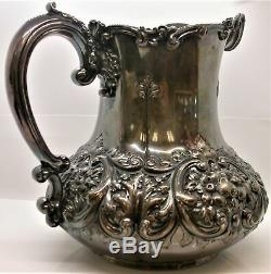 DOMINICK & HAFF STERLING REPOUSSE WATER PITCHER # 194, 31.28 oz