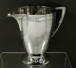 Durgin Sterling Water Pitcher c1910 HAND HAMMERED