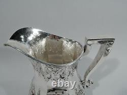 Durgin Water Pitcher 1900 Antique Large Heavy American Sterling Silver