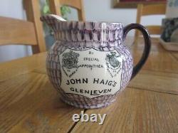 Excellent Condition John Haig's Glenleven Whisky Water Jug