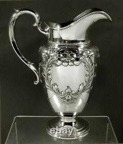 Fisher Sterling Water Pitcher c1940 VIOLET PATTERN