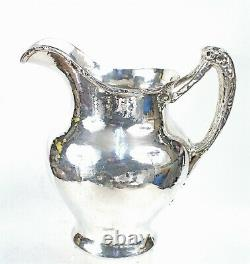 Gorham 1911 Hammered Finish Arts & Crafts Sterling Water Pitcher