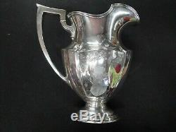 Gorham / Plymouth A2788 3-5/8 Water Pitcher Sterling Silver Beautiful Engravings