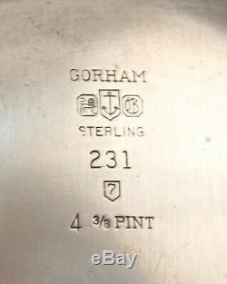 Gorham Sterling 18th c George I Style Water Pitcher #231 PRISTINE