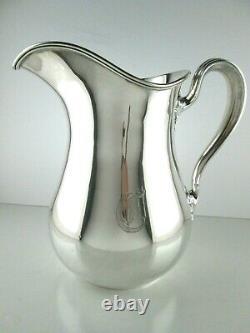 Gorham Sterling Silver Water Pitcher 8.25 Pint, 10 3/8