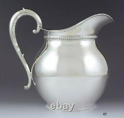 Handsome Vintage 1940s Wallace Sterling Silver Water Pitcher 5 Pints