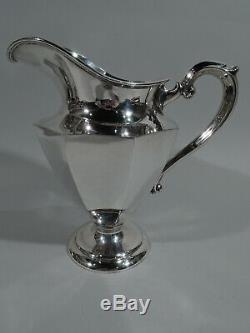 Hirsch Water Pitcher 509 Antique Art Deco Modern American Sterling Silver
