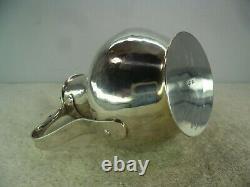 Italian Arts & Crafts Solid Silver Handmade Hammered Water Jug