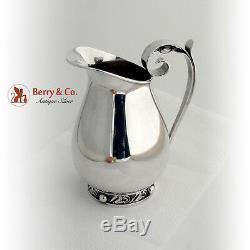 La Paglia Water Pitcher Blossom Sterling Silver 1950