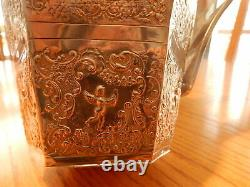 Large Antique Repousse STERLING WATER PITCHER Hallmarked HOLLAND Heavy 648 grams
