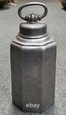Late 18th/Early 19th Century English Octagonal Pewter Cold Water Jug