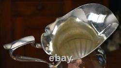Lovely Vintage Portugal Portuguese Silver Plate Large Handled Water Pitcher