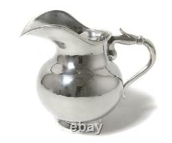 Massive sterling silver water pitcher (jug). Mexico, Enrigue Ledesma Taxco